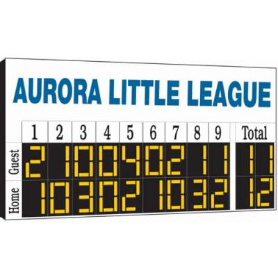 8' x 4' Manual Baseball Scoreboard Main Image